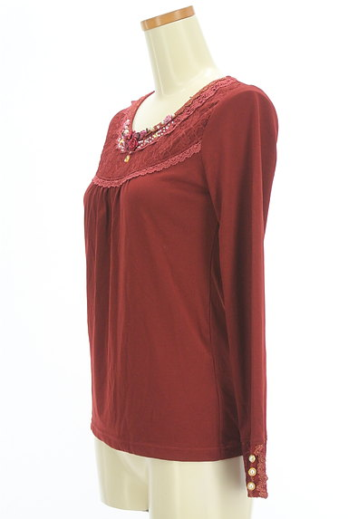 axes femme(アクシーズファム)の古着「装飾レース切替カットソー(カットソー・プルオーバー)」大画像3へ