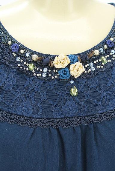 axes femme(アクシーズファム)の古着「装飾レース切替カットソー(カットソー・プルオーバー)」大画像4へ