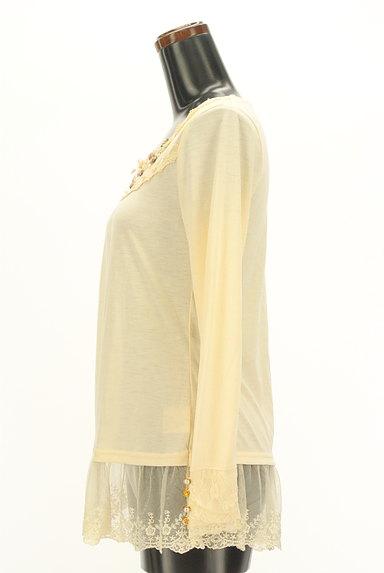 axes femme(アクシーズファム)の古着「刺繍チュール裾装飾カットソー(カットソー・プルオーバー)」大画像3へ