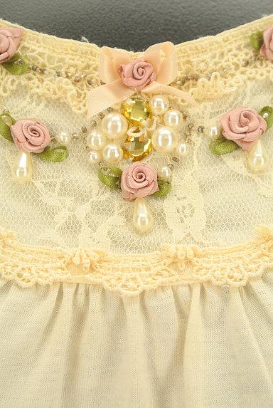 axes femme(アクシーズファム)の古着「刺繍チュール裾装飾カットソー(カットソー・プルオーバー)」大画像4へ