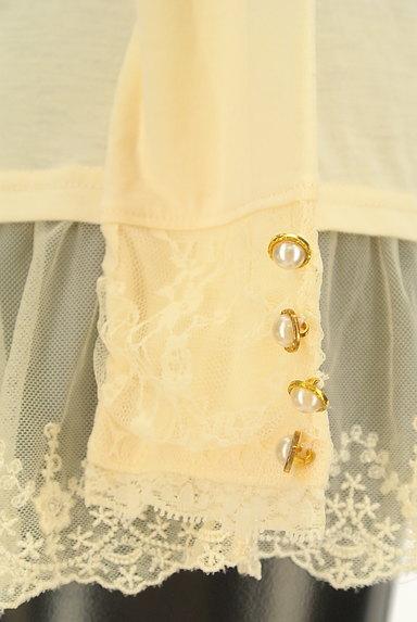 axes femme(アクシーズファム)の古着「刺繍チュール裾装飾カットソー(カットソー・プルオーバー)」大画像5へ