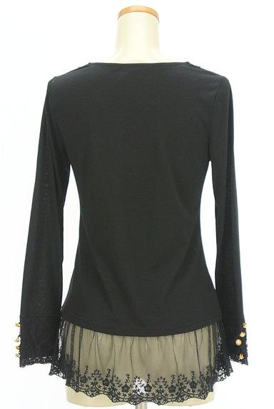 axes femme(アクシーズファム)の古着「刺繍チュール裾カットソー(カットソー・プルオーバー)」大画像2へ