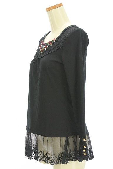 axes femme(アクシーズファム)の古着「刺繍チュール裾カットソー(カットソー・プルオーバー)」大画像3へ