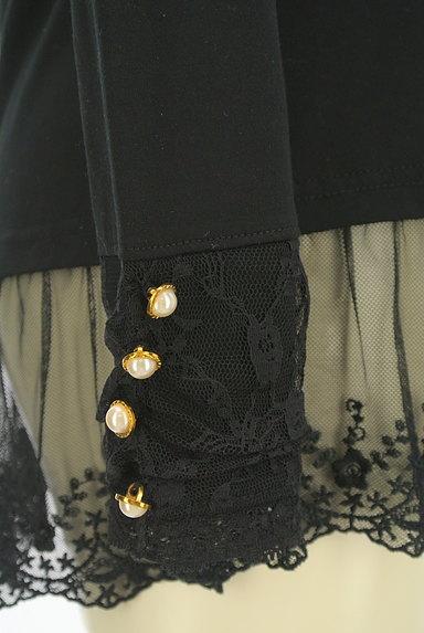 axes femme(アクシーズファム)の古着「刺繍チュール裾カットソー(カットソー・プルオーバー)」大画像5へ