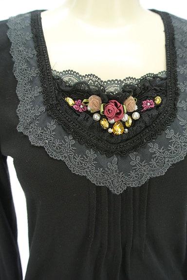 axes femme(アクシーズファム)の古着「装飾レースカットソー(カットソー・プルオーバー)」大画像4へ