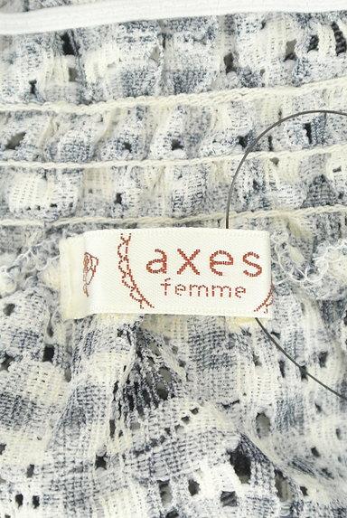 axes femme(アクシーズファム)の古着「サイドレースアップチェック柄カットソー(カットソー・プルオーバー)」大画像6へ