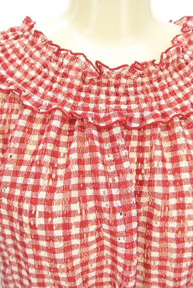 axes femme(アクシーズファム)の古着「サイドレースアップチェック柄カットソー(カットソー・プルオーバー)」大画像4へ