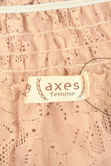 axes femme(アクシーズファム)の古着「レースアップシアーレースカットソー(カットソー・プルオーバー)」大画像6へ