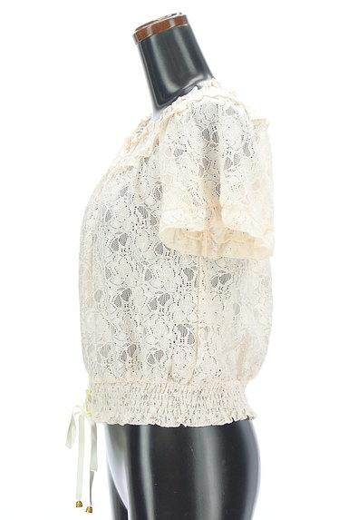 axes femme(アクシーズファム)の古着「花柄シアー総レースオフショルカットソー(カットソー・プルオーバー)」大画像3へ