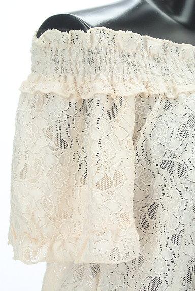 axes femme(アクシーズファム)の古着「花柄シアー総レースオフショルカットソー(カットソー・プルオーバー)」大画像4へ