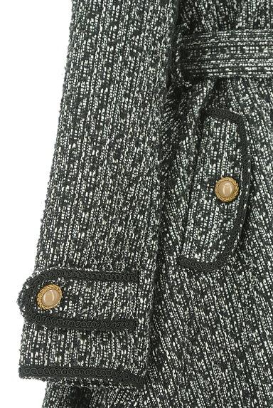 axes femme(アクシーズファム)の古着「ファー襟ベルト付きラメフレアコート(コート)」大画像5へ