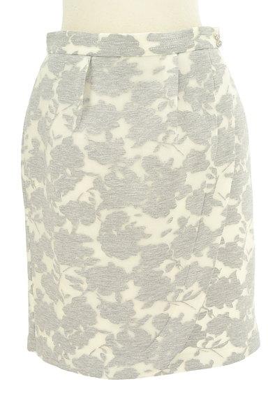 MISCH MASCH(ミッシュマッシュ)の古着「花柄オーガンジー膝丈タイトスカート(スカート)」大画像1へ