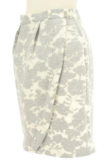 MISCH MASCH(ミッシュマッシュ)の古着「花柄オーガンジー膝丈タイトスカート(スカート)」大画像3へ