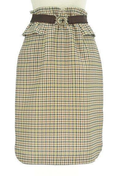 Rirandture(リランドチュール)の古着「ベルト付チェック柄フリル膝下丈スカート(スカート)」大画像1へ