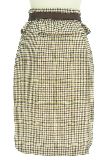 Rirandture(リランドチュール)の古着「ベルト付チェック柄フリル膝下丈スカート(スカート)」大画像2へ