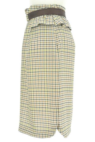 Rirandture(リランドチュール)の古着「ベルト付チェック柄フリル膝下丈スカート(スカート)」大画像3へ