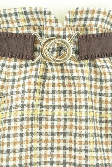 Rirandture(リランドチュール)の古着「ベルト付チェック柄フリル膝下丈スカート(スカート)」大画像4へ