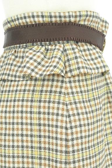 Rirandture(リランドチュール)の古着「ベルト付チェック柄フリル膝下丈スカート(スカート)」大画像5へ