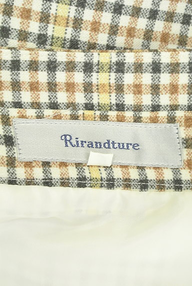 Rirandture(リランドチュール)の古着「ベルト付チェック柄フリル膝下丈スカート(スカート)」大画像6へ