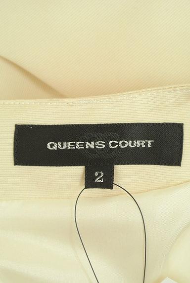QUEENS COURT(クイーンズコート)の古着「ビジュー刺繍バイカラー膝丈ワンピース(ワンピース・チュニック)」大画像6へ
