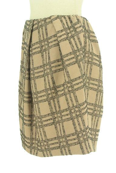 nano・universe(ナノユニバース)の古着「膝上丈チェック柄タックスカート(スカート)」大画像3へ