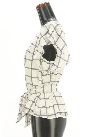 LODISPOTTO(ロディスポット)の古着「フリル袖ウエストリボンカットソー(カットソー・プルオーバー)」大画像4へ