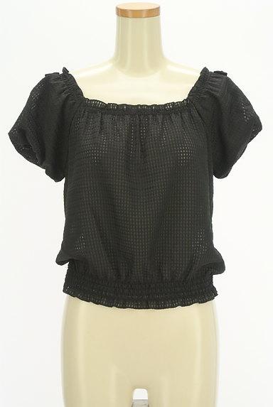LODISPOTTO(ロディスポット)の古着「バルーン袖チェック柄シアーカットソー(カットソー・プルオーバー)」大画像1へ