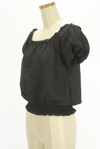 LODISPOTTO(ロディスポット)の古着「バルーン袖チェック柄シアーカットソー(カットソー・プルオーバー)」大画像3へ