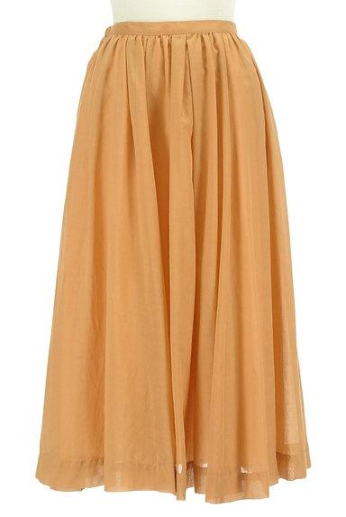 ROSSO(ロッソ)の古着「ミモレ丈シアーフレアスカート(ロングスカート・マキシスカート)」大画像1へ