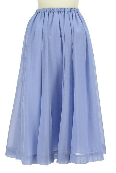 ROSSO(ロッソ)の古着「ミモレ丈シアーフレアスカート(ロングスカート・マキシスカート)」大画像2へ