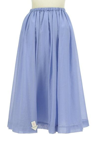 ROSSO(ロッソ)の古着「ミモレ丈シアーフレアスカート(ロングスカート・マキシスカート)」大画像4へ