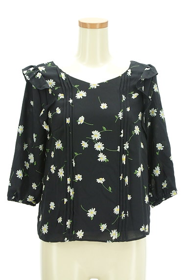 Rirandture(リランドチュール)の古着「花柄七分袖シフォンカットソー(カットソー・プルオーバー)」大画像1へ
