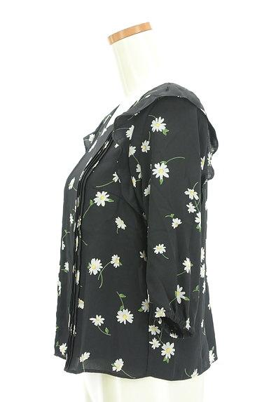 Rirandture(リランドチュール)の古着「花柄七分袖シフォンカットソー(カットソー・プルオーバー)」大画像3へ