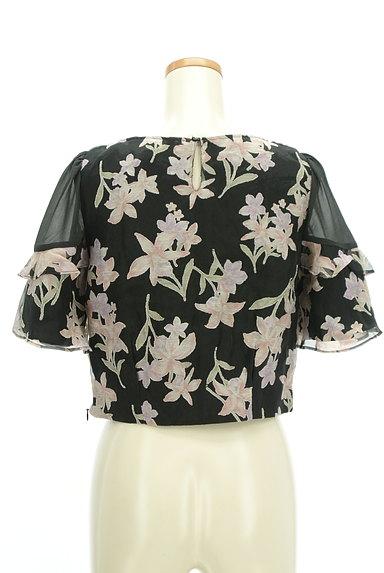 Rirandture(リランドチュール)の古着「微光沢オーガンジー花柄カットソー(カットソー・プルオーバー)」大画像2へ