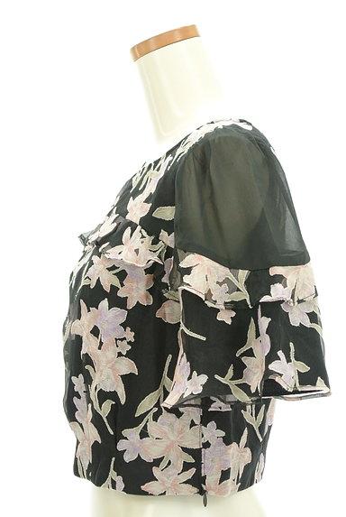 Rirandture(リランドチュール)の古着「微光沢オーガンジー花柄カットソー(カットソー・プルオーバー)」大画像3へ