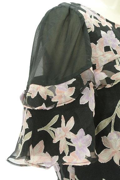 Rirandture(リランドチュール)の古着「微光沢オーガンジー花柄カットソー(カットソー・プルオーバー)」大画像5へ