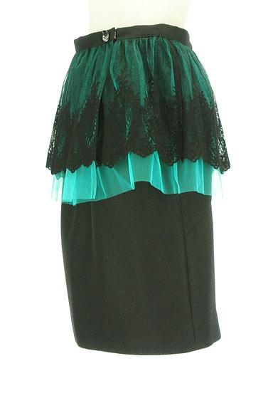 Riccimie NEWYORK(リッチミーニューヨーク)の古着「刺繍チュールペプラムタイトスカート(スカート)」大画像3へ