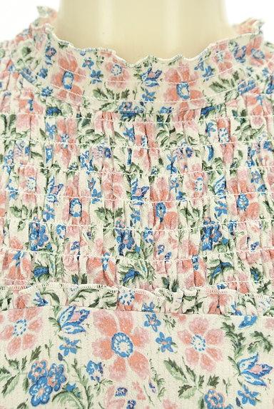 Snidel(スナイデル)の古着「バンドカラーフレア袖花柄カットソー(カットソー・プルオーバー)」大画像4へ