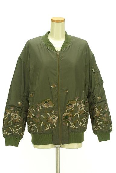 Lily Brown(リリーブラウン)の古着「花刺繍×キルティングリバーシブルブルゾン(ブルゾン・スタジャン)」大画像1へ
