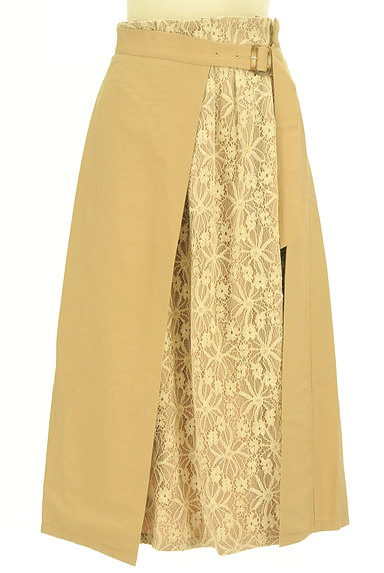 YECCA VECCA(イェッカヴェッカ)の古着「花柄レースラップ風ミモレ丈スカート(ロングスカート・マキシスカート)」大画像1へ