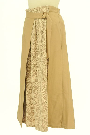 YECCA VECCA(イェッカヴェッカ)の古着「花柄レースラップ風ミモレ丈スカート(ロングスカート・マキシスカート)」大画像3へ