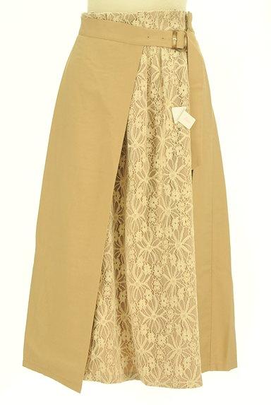 YECCA VECCA(イェッカヴェッカ)の古着「花柄レースラップ風ミモレ丈スカート(ロングスカート・マキシスカート)」大画像4へ