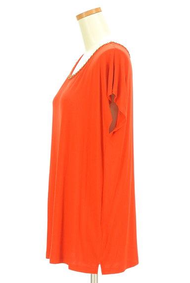 LOUNIE(ルーニィ)の古着「ビーズ刺繍フレンチスリーブカットソー(カットソー・プルオーバー)」大画像3へ