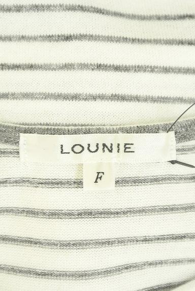 LOUNIE(ルーニィ)の古着「ウエストリボンフレンチスリーブカットソー(ニット)」大画像6へ