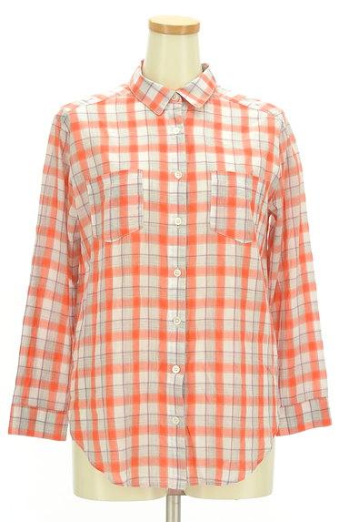 LOUNIE(ルーニィ)の古着「チェック柄シアーシャツ(カジュアルシャツ)」大画像1へ