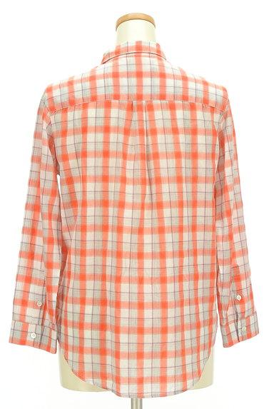 LOUNIE(ルーニィ)の古着「チェック柄シアーシャツ(カジュアルシャツ)」大画像2へ