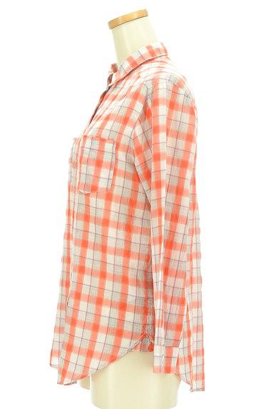 LOUNIE(ルーニィ)の古着「チェック柄シアーシャツ(カジュアルシャツ)」大画像3へ
