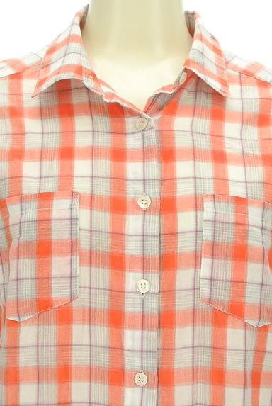 LOUNIE(ルーニィ)の古着「チェック柄シアーシャツ(カジュアルシャツ)」大画像4へ