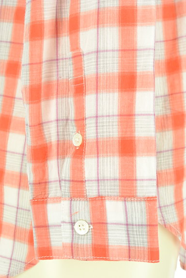 LOUNIE(ルーニィ)の古着「チェック柄シアーシャツ(カジュアルシャツ)」大画像5へ