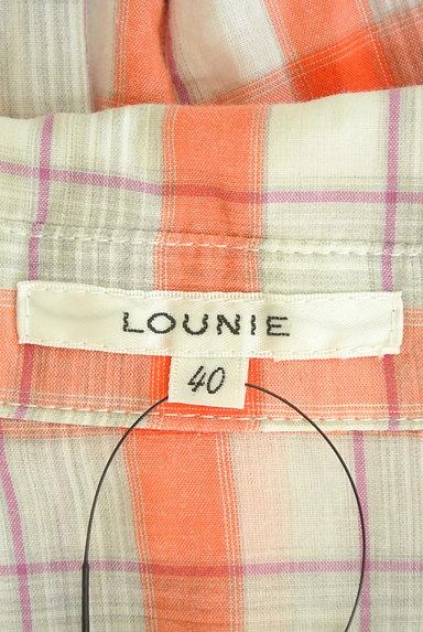 LOUNIE(ルーニィ)の古着「チェック柄シアーシャツ(カジュアルシャツ)」大画像6へ